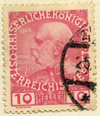 Austrian Stamps 1908 Issues